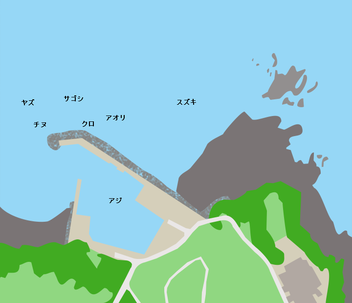 唐隈港ポイント図