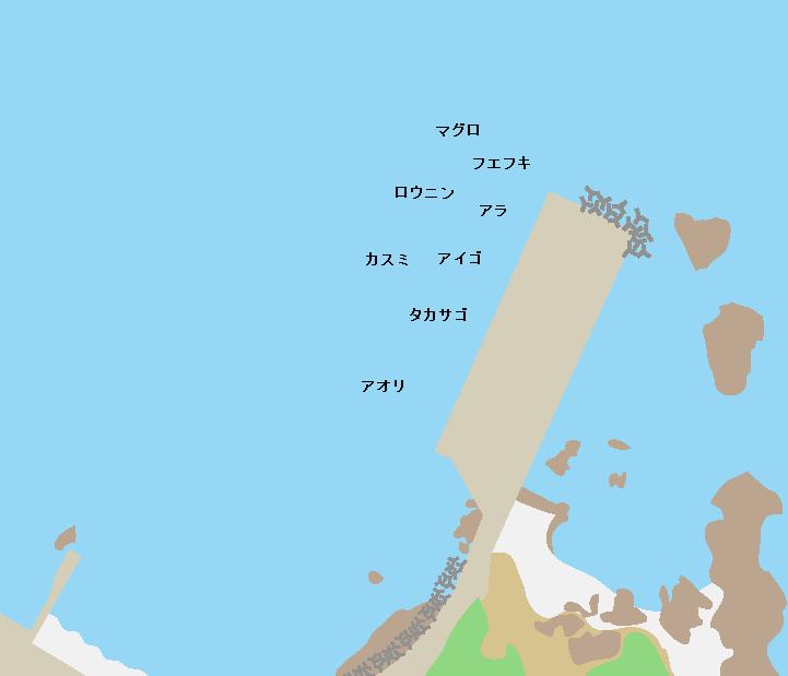 与論港ポイント図