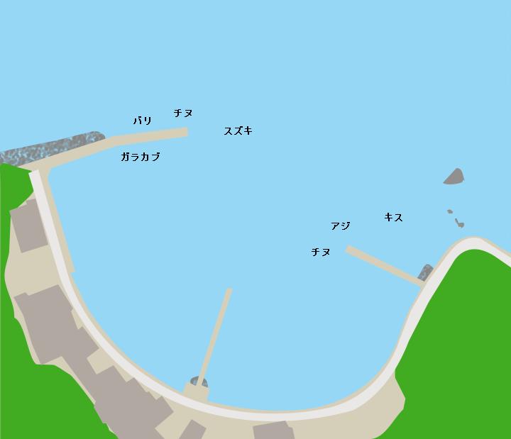 水ノ牛港ポイント図