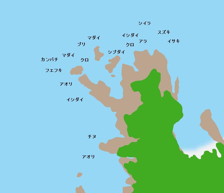 坊岬ポイント図