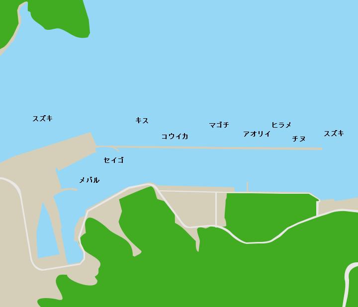 佐敷港ポイント図