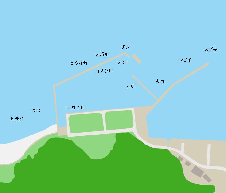 松ヶ崎港ポイント図