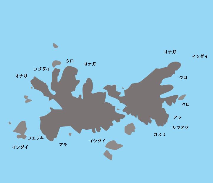 草垣群島中ノ島ポイント図