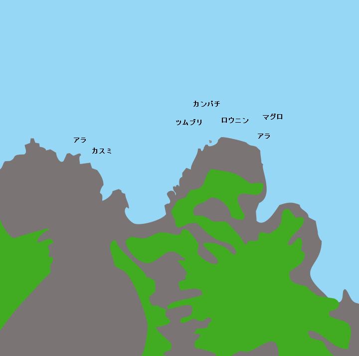 諏訪之瀬島須崎ポイント図