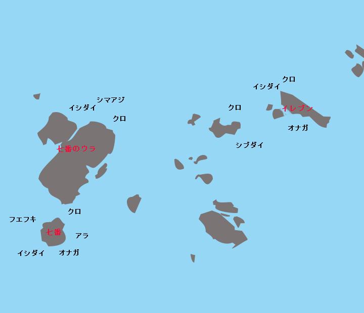 草垣群島7番・イレブンポイント図