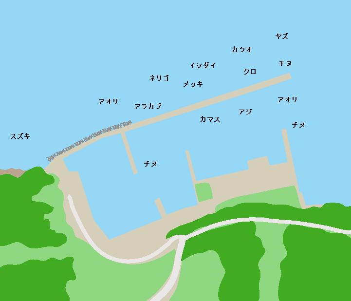 片浦漁港ポイント図