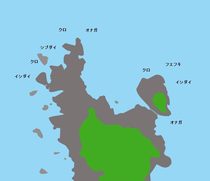 宇治群島新岬(宇治島)ポイント図