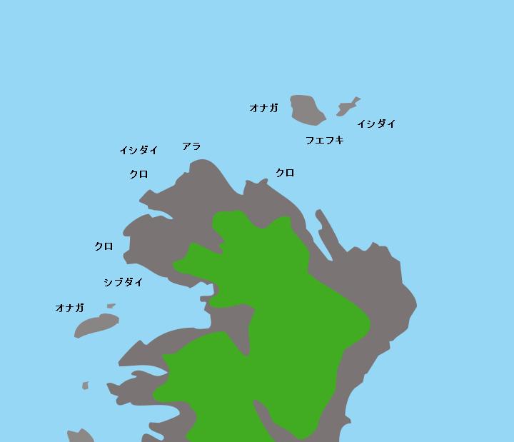 宇治群島波多江岬(宇治向島)ポイント図