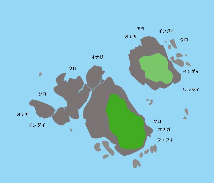 宇治群島雀島ポイント図