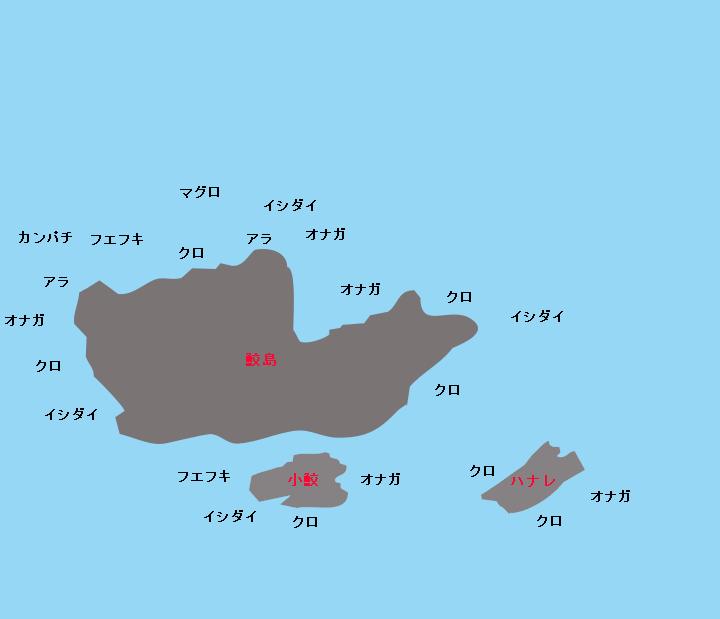 宇治群島鮫島ポイント図