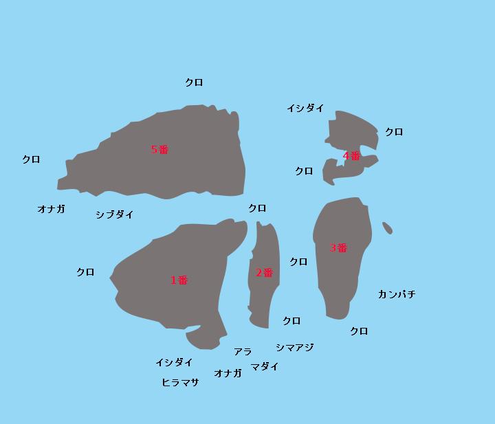 鷹島ポイント図