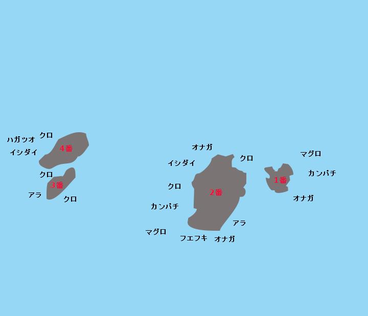 津倉瀬ポイント図