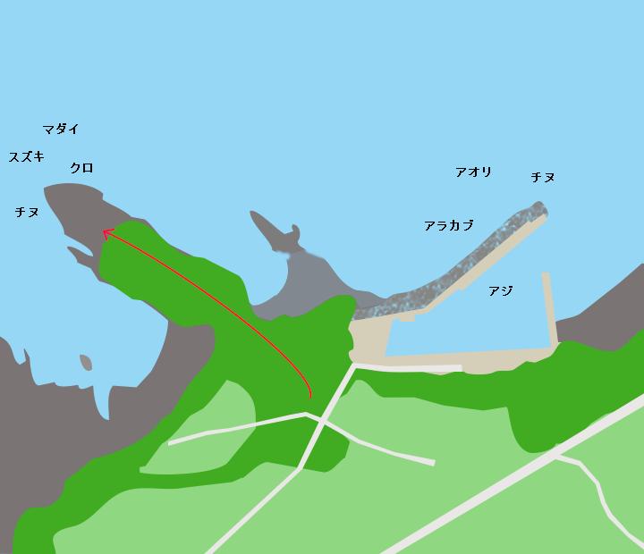 城川内港ポイント図
