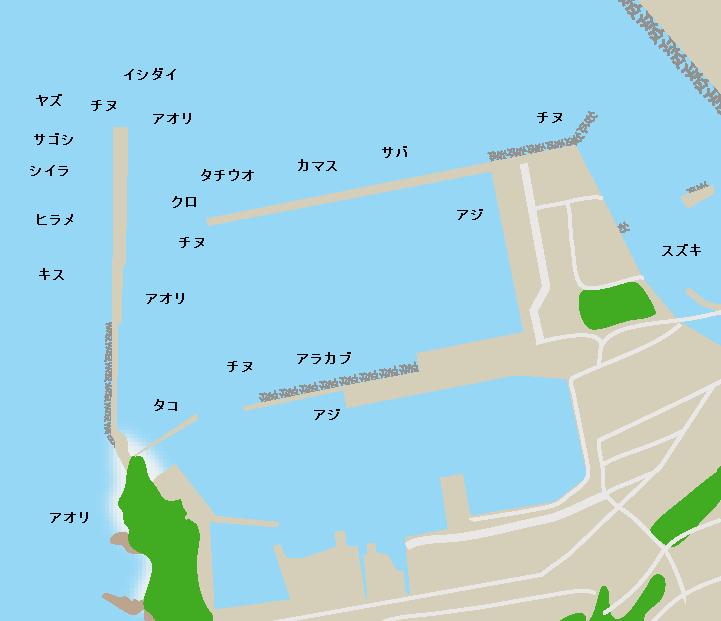 串木野漁港ポイント図
