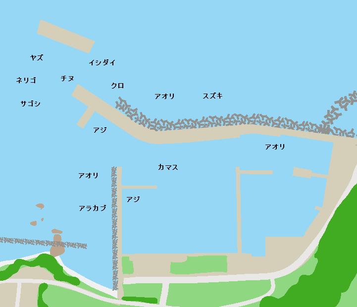 羽島漁港ポイント図
