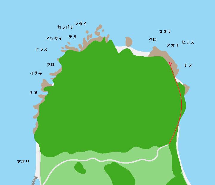 羽島崎ポイント図