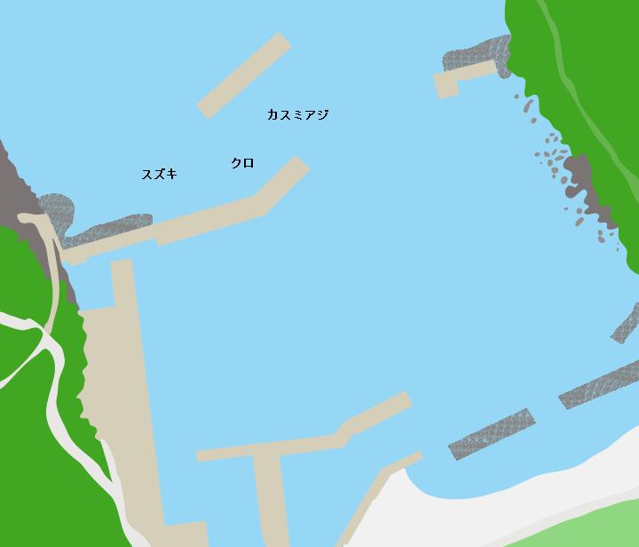 硫黄島港ポイント図