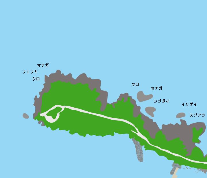 硫黄島永良部崎ポイント図
