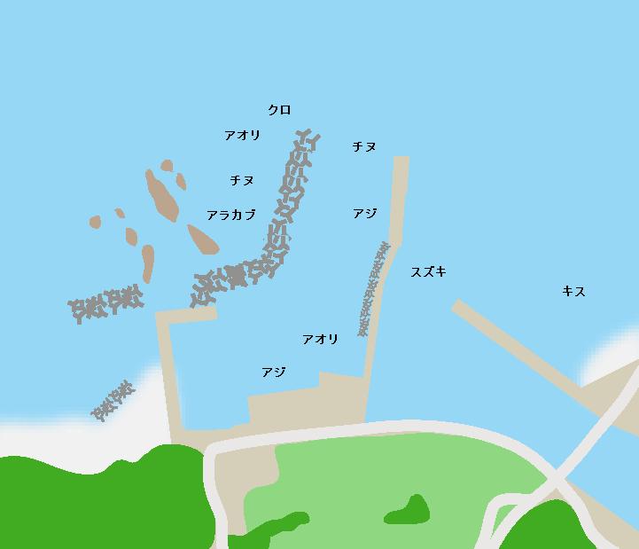 土川漁港ポイント図
