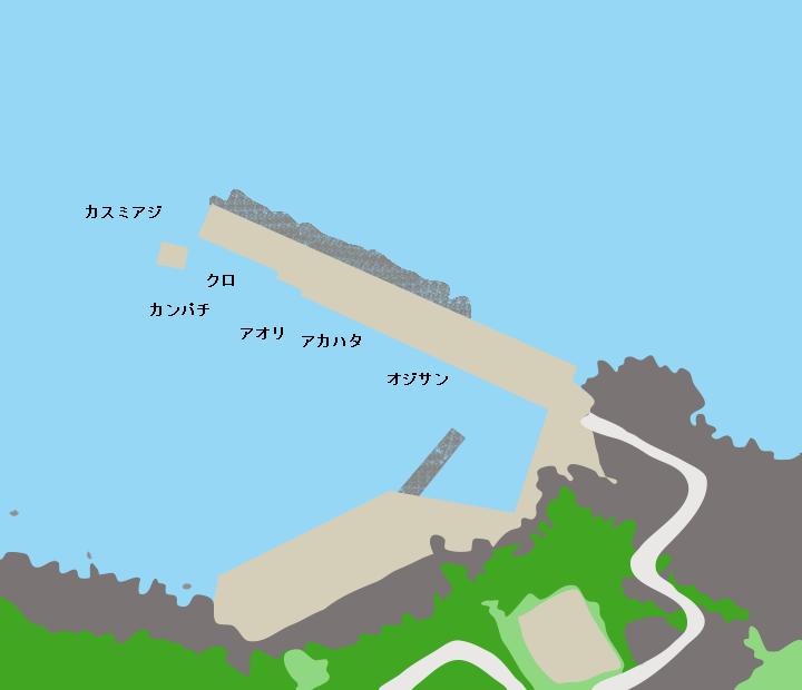 黒島片泊港ポイント図