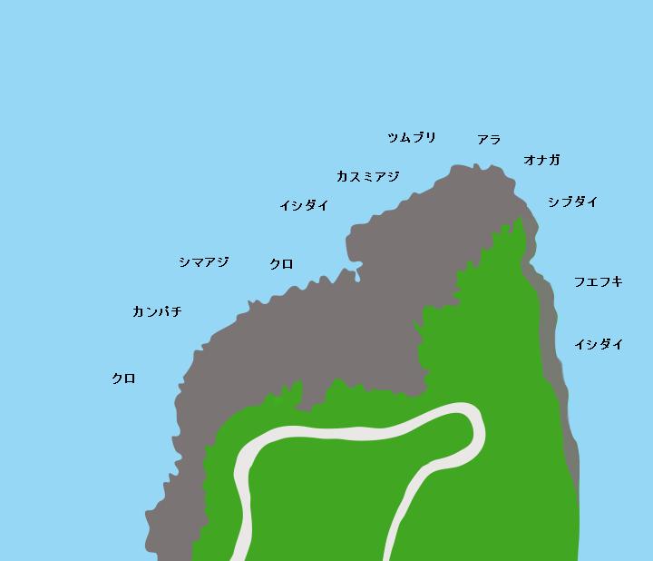 黒島塩手鼻ポイント図