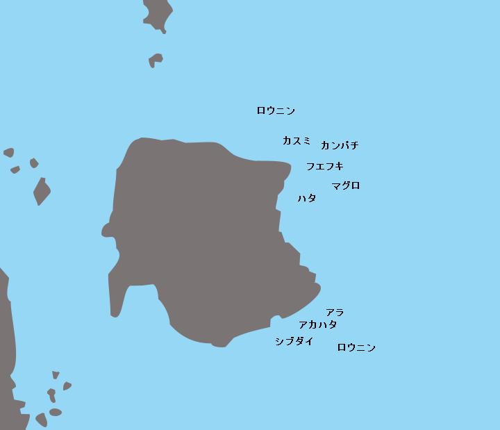 口之島赤瀬ポイント図