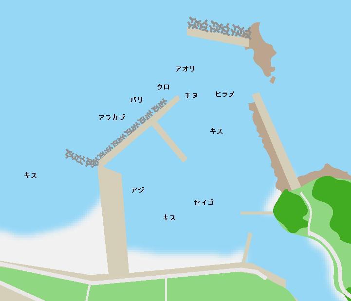 西方港ポイント図