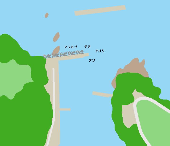 倉津港ポイント図