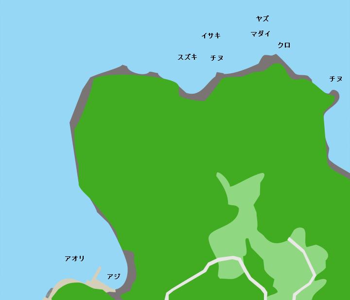 北方崎ポイント図