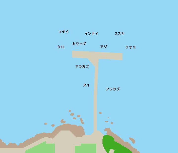 桜島海づり公園ポイント図