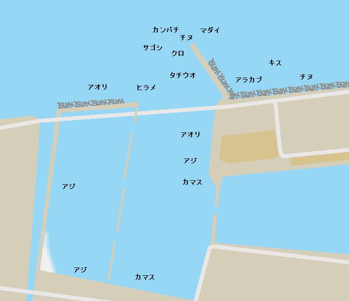 鹿児島木材港ポイント図
