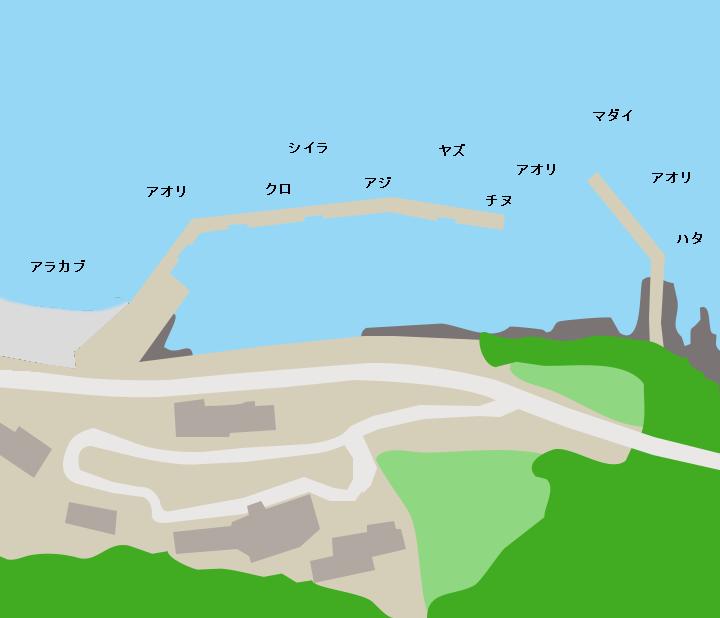 観音漁港ポイント図