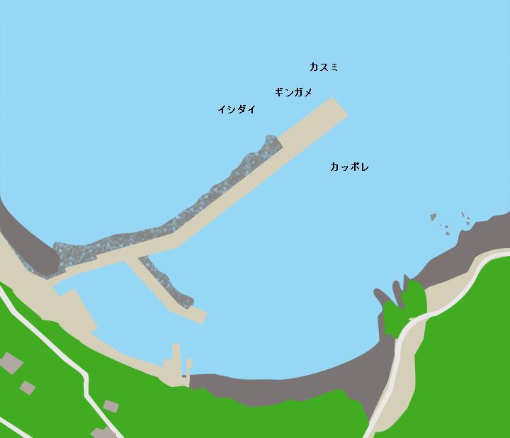悪石島やすら浜港ポイント図