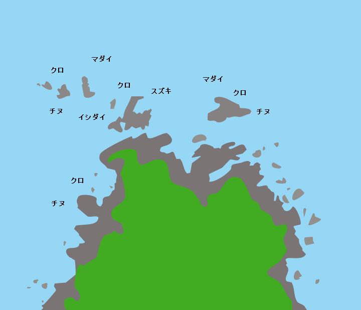 樺島灯台周辺ポイント図