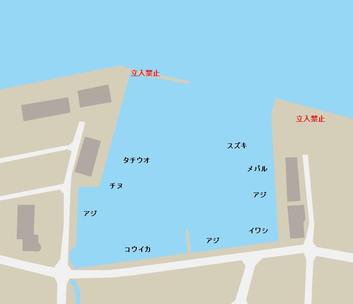 岬之町埠頭ポイント図