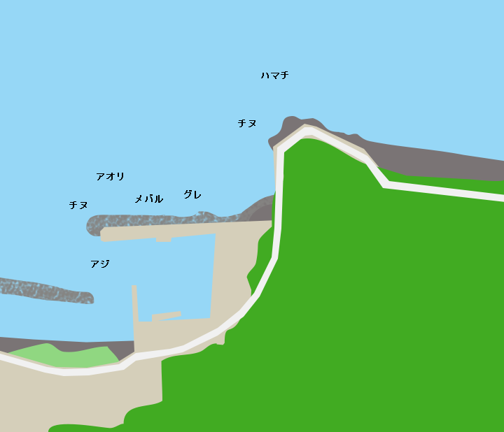 周防大島日向泊ポイント図