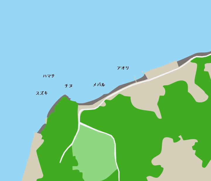 彦島下関南霊園下地磯ポイント図