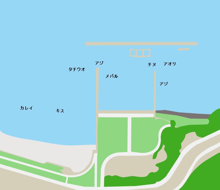 周防大島片添港ポイント図