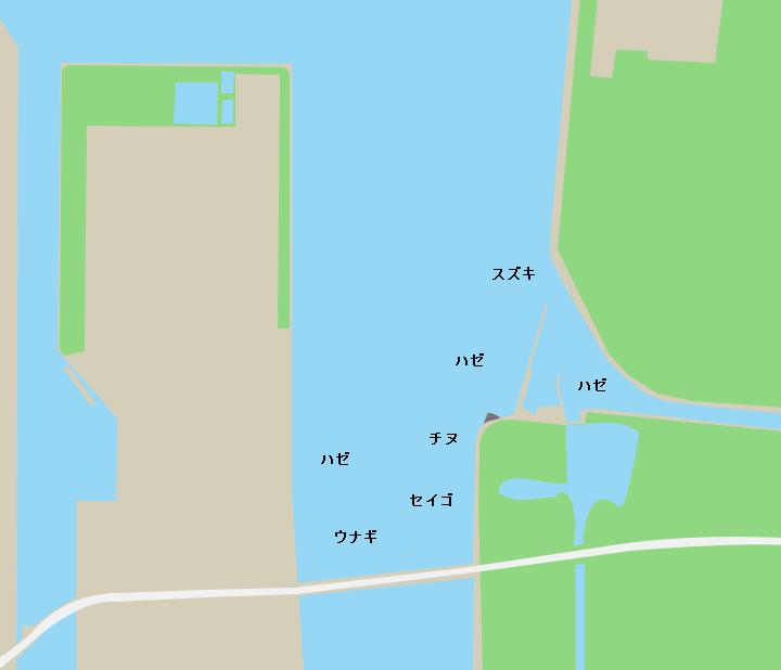 厚東川河口ポイント図