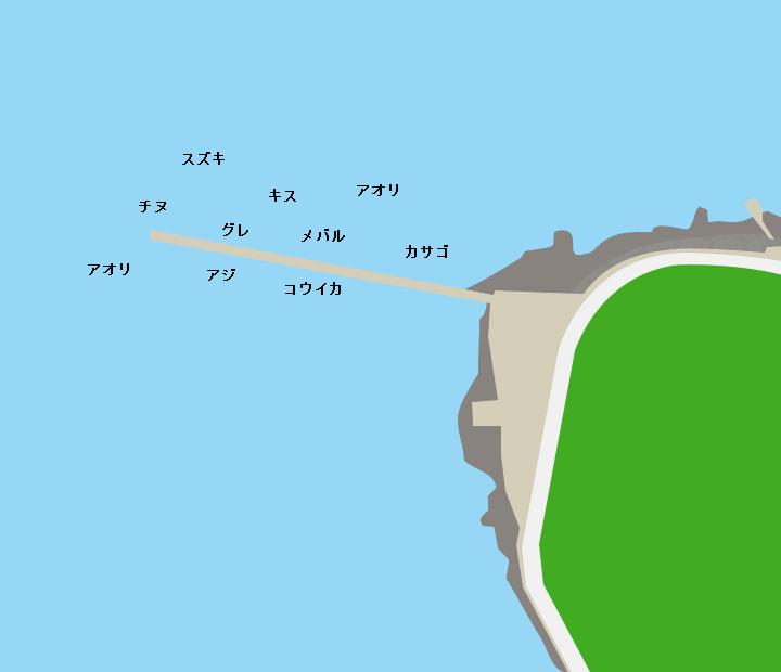 彦島福浦港ポイント図