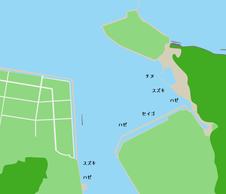 厚狭川河口ポイント図
