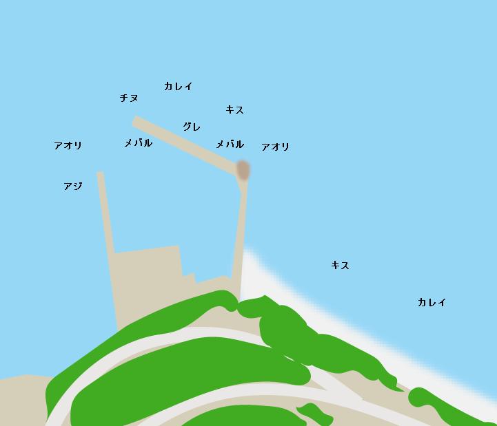 周防大島神浦漁港ポイント図