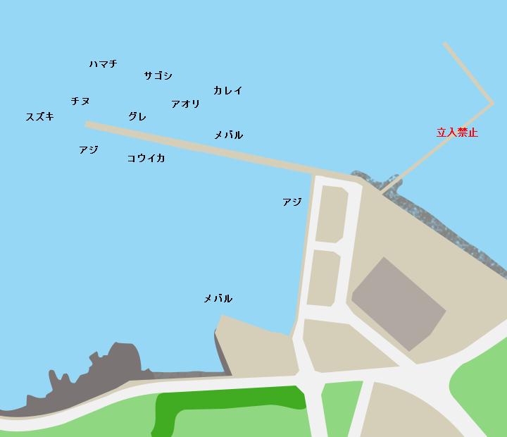 彦島荒田港ポイント図