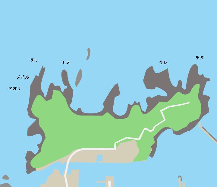 竹の子島ポイント図