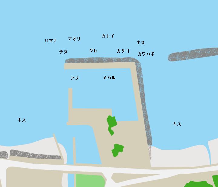 周防大島秋港ポイント図
