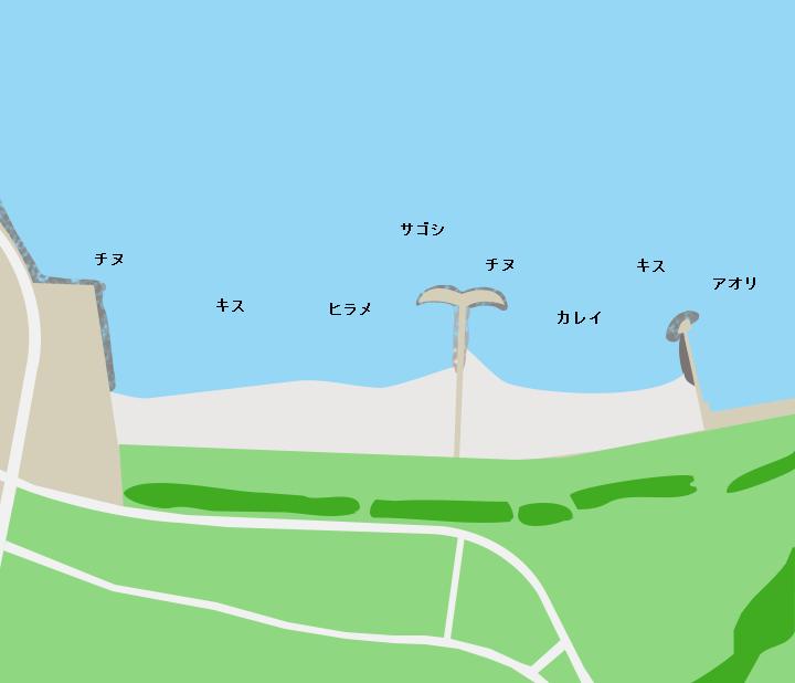 彦島ひこっとらんどマリンビーチポイント図