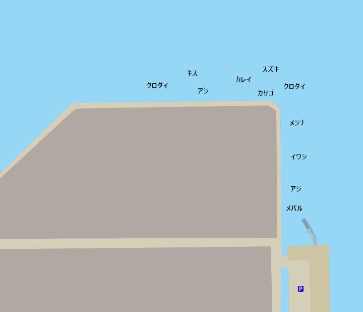 磯子海釣り施設ポイント図