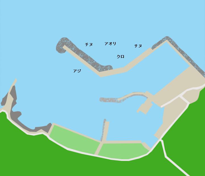 蓋井島漁港ポイント図