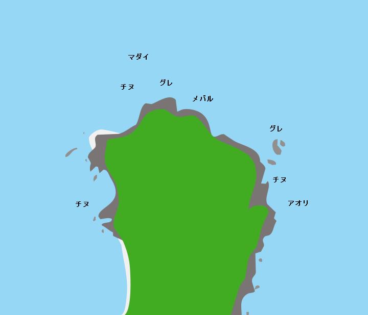 蓋井島源蔵ヶ鼻ポイント図