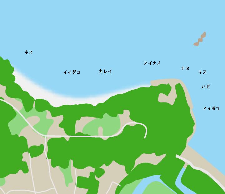 寄島園地ポイント図